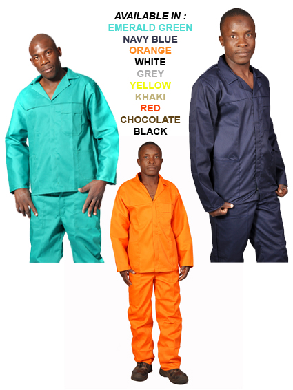 2PC OVERALLS COLOURS